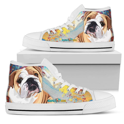 Bulldog High Tops - WearItArt - shoes