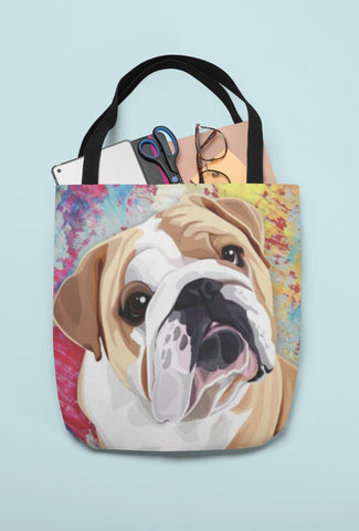 Bulldog Tote Bag - WearItArt - Handbag