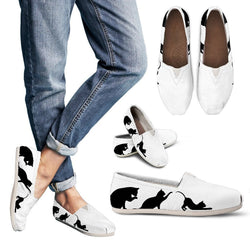 B&W Cat Women's Casual Shoes - WearItArt - Casual Shoes