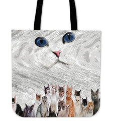 Cat crew Tote Bag - WearItArt - Handbag