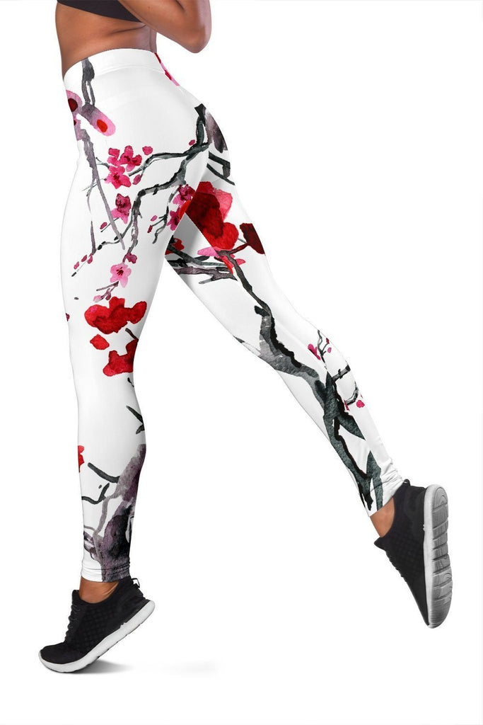 Cherry Blossom Leggings - WearItArt - leggings