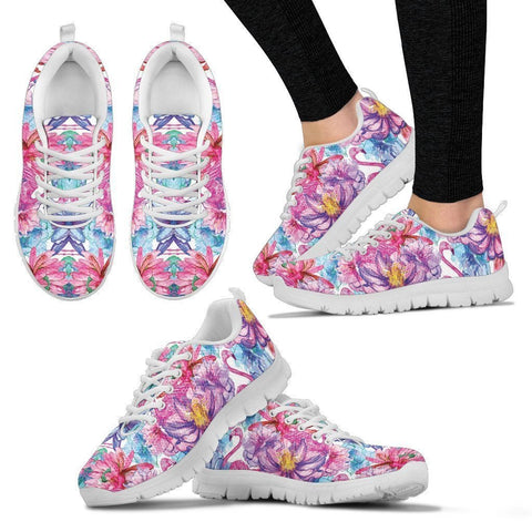 Colorful Pink Flamingos Women's Sneakers - WearItArt - shoes