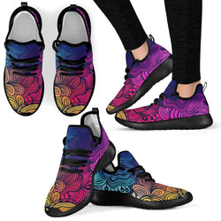 Colorful Wave Style Mesh Knit Sneakers - WearItArt - shoes