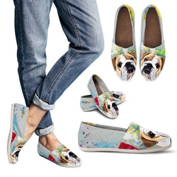 Cute American Bulldog Women's Casual Shoes - WearItArt - Casual Shoes