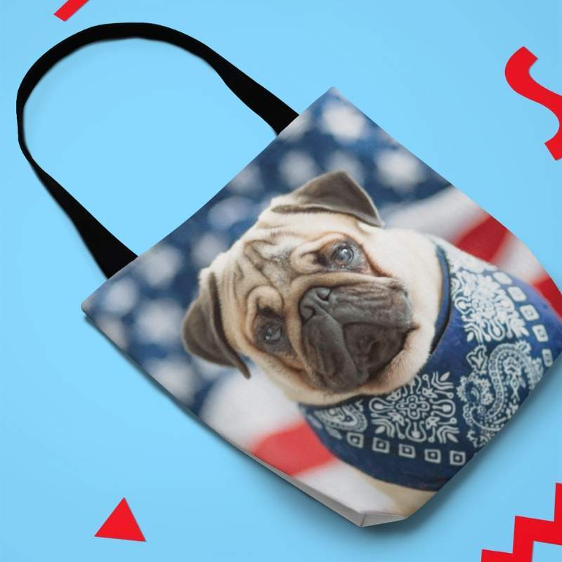 Cute Pug Canvas Tote Bags - WearItArt - Handbag