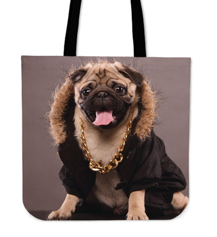 Image of Cute Pug Canvas Tote Bags - WearItArt - Handbag