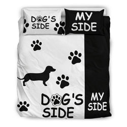 Dachshund Dog's Side and My Side Bedding Set - WearItArt - Bedding Set