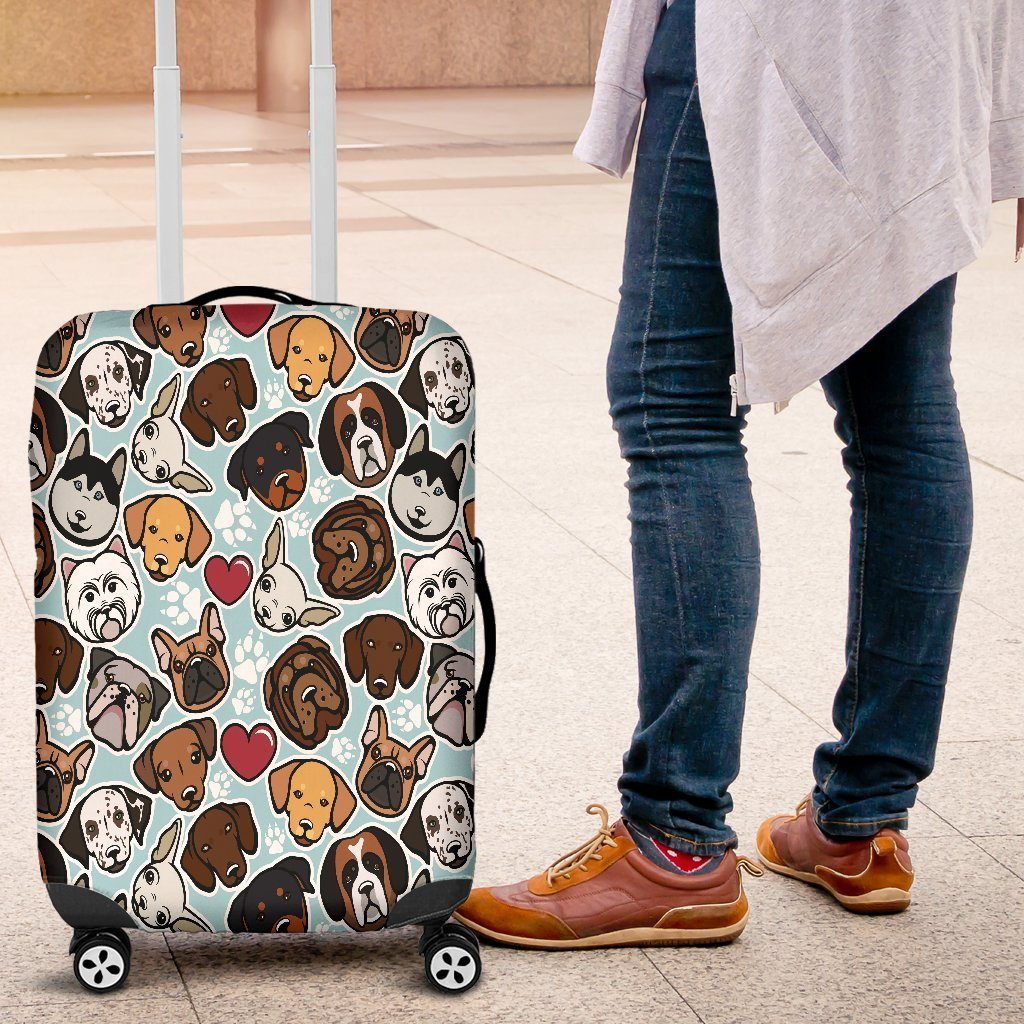 Dog Lovers Luggage Cover - WearItArt - Luggage Covers