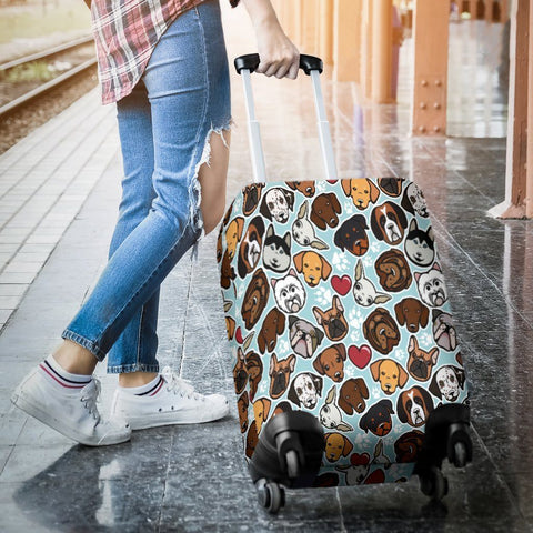 Image of Dog Lovers Luggage Cover - WearItArt - Luggage Covers