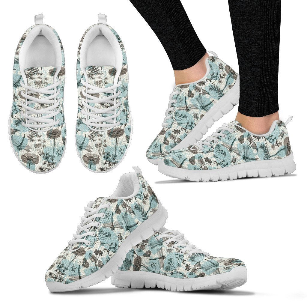 Dragonfly and Flowers sneakers - WearItArt - shoes