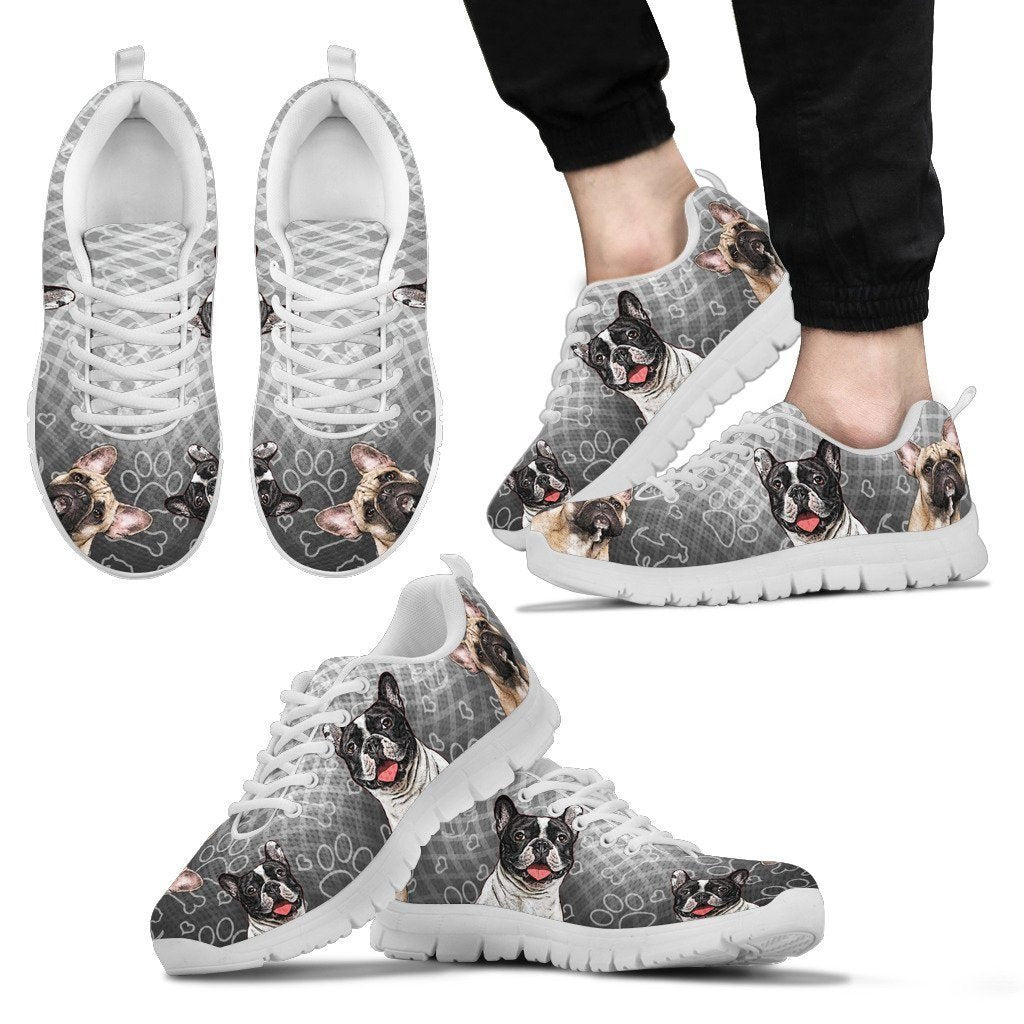 French Bulldog Men's Sneakers - WearItArt - shoes