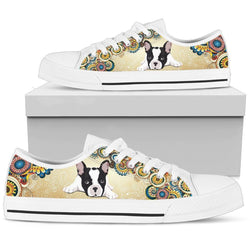 French Bulldog Women's Low Top Shoes - WearItArt - shoes