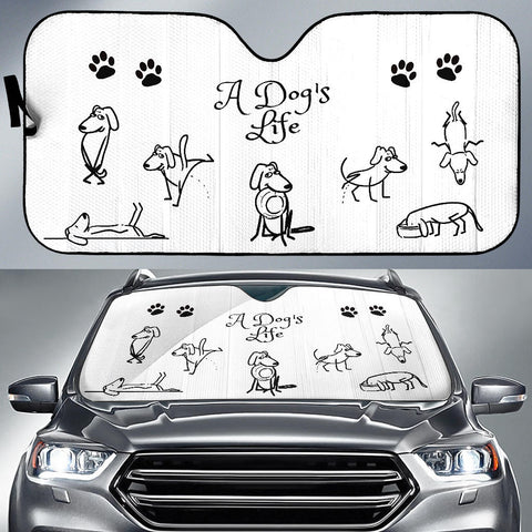 Image of A DOG'S LIFE AUTO SUN SHADE
