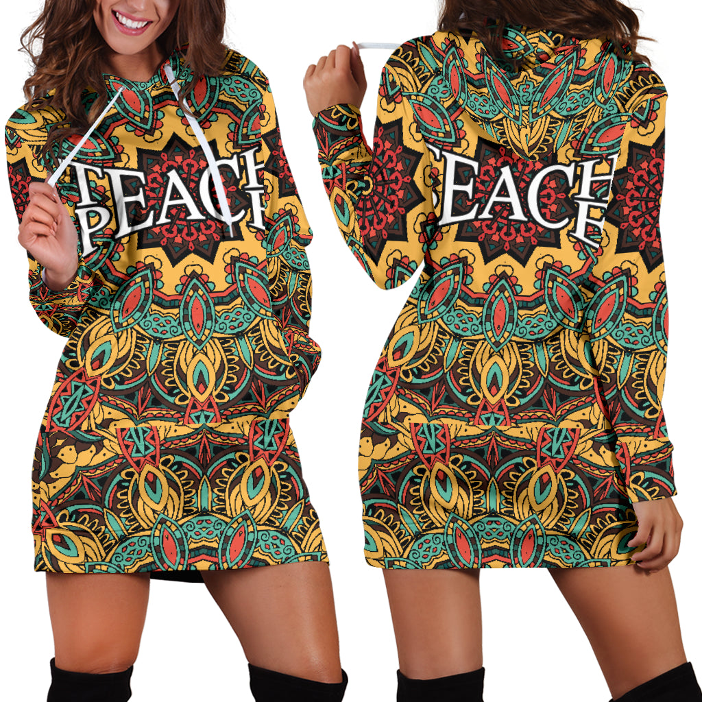 Teach Peace Hoodie Dress