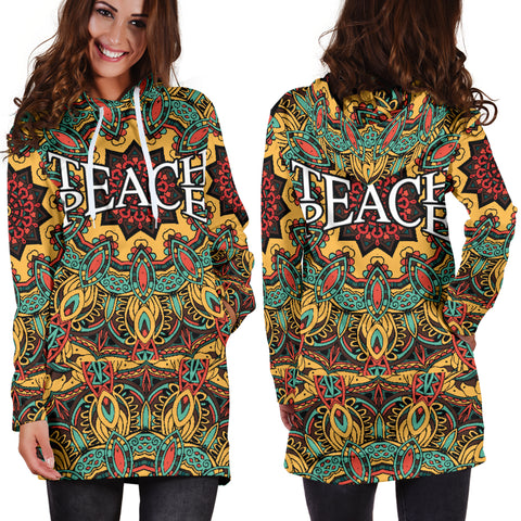 Image of Teach Peace Hoodie Dress