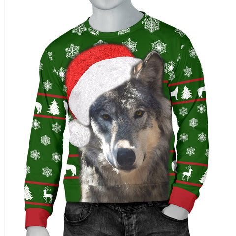 Image of Santa Wolf Christmas Sweater