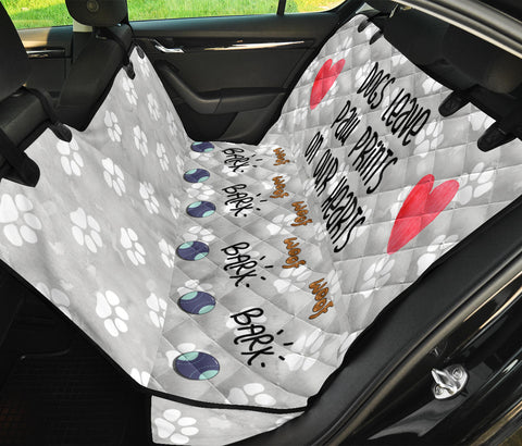 Image of Dogs Leave Paw Prints | Car Seat Protector