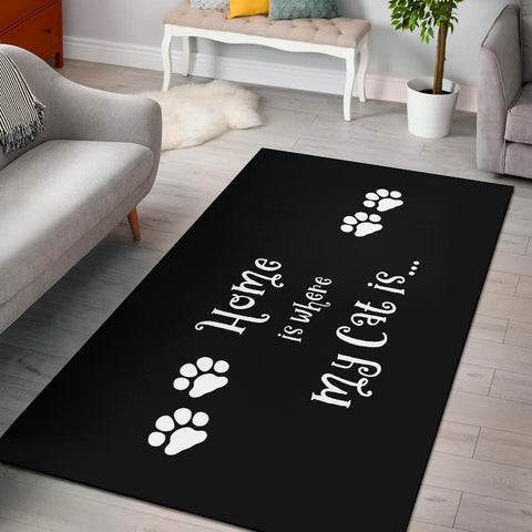 Image of Fun Cat Home Area Rug - WearItArt - Rug