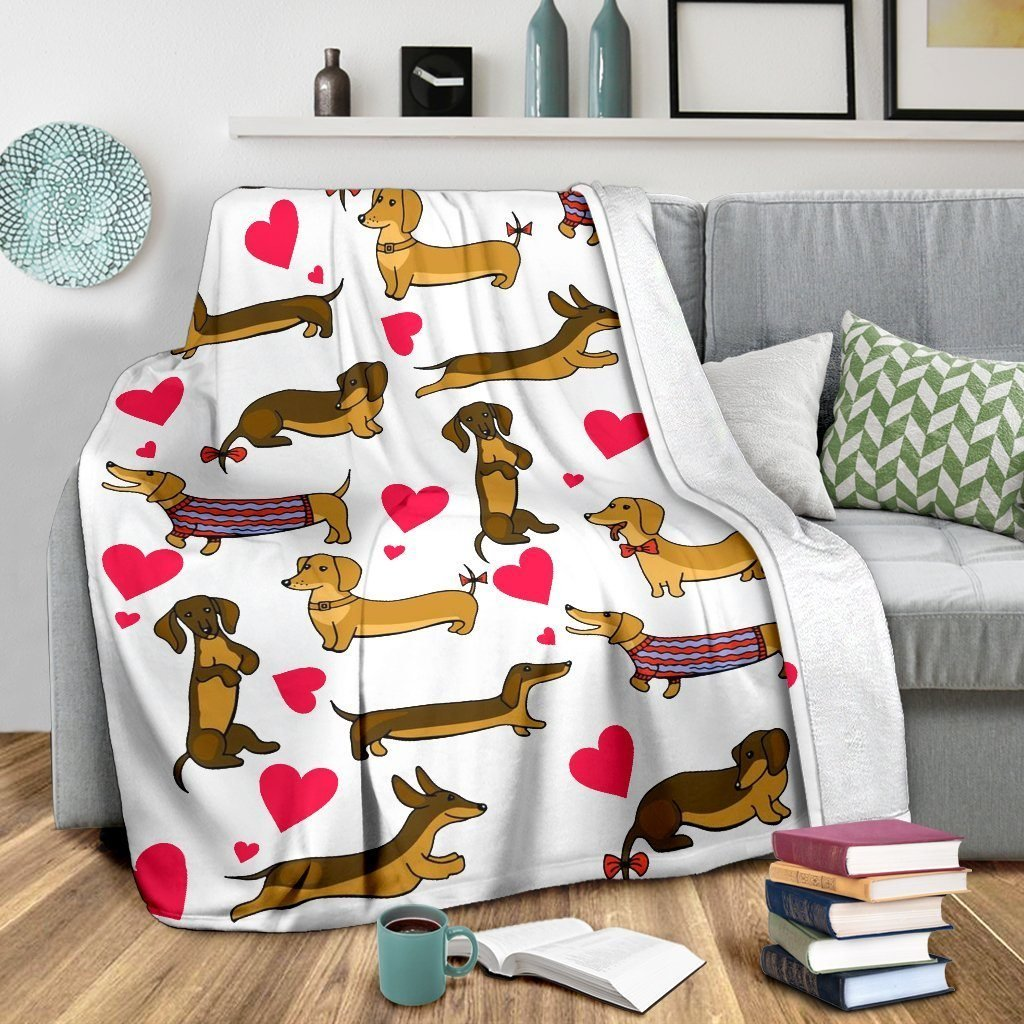 Funny Dachshund Sausage Blanket Sofa For Dog Puppy Lovers - WearItArt - Blanket