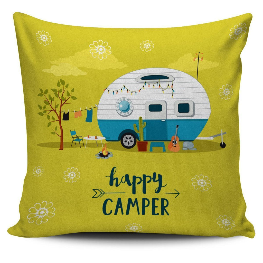 Happy Camper Pillow Cover #1 - WearItArt - Pillow Covers