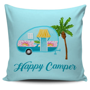 Happy Camper Pillow Cover #2 - WearItArt - Pillow Covers