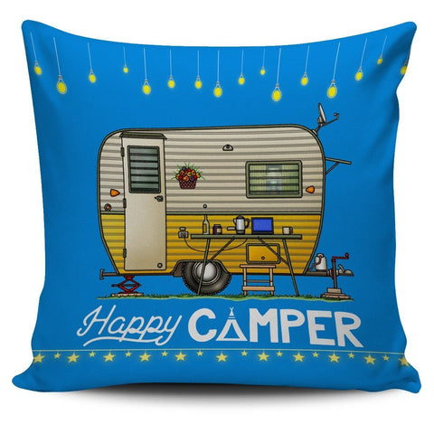 Happy Camper Pillow Cover #4 - WearItArt - Pillow Covers