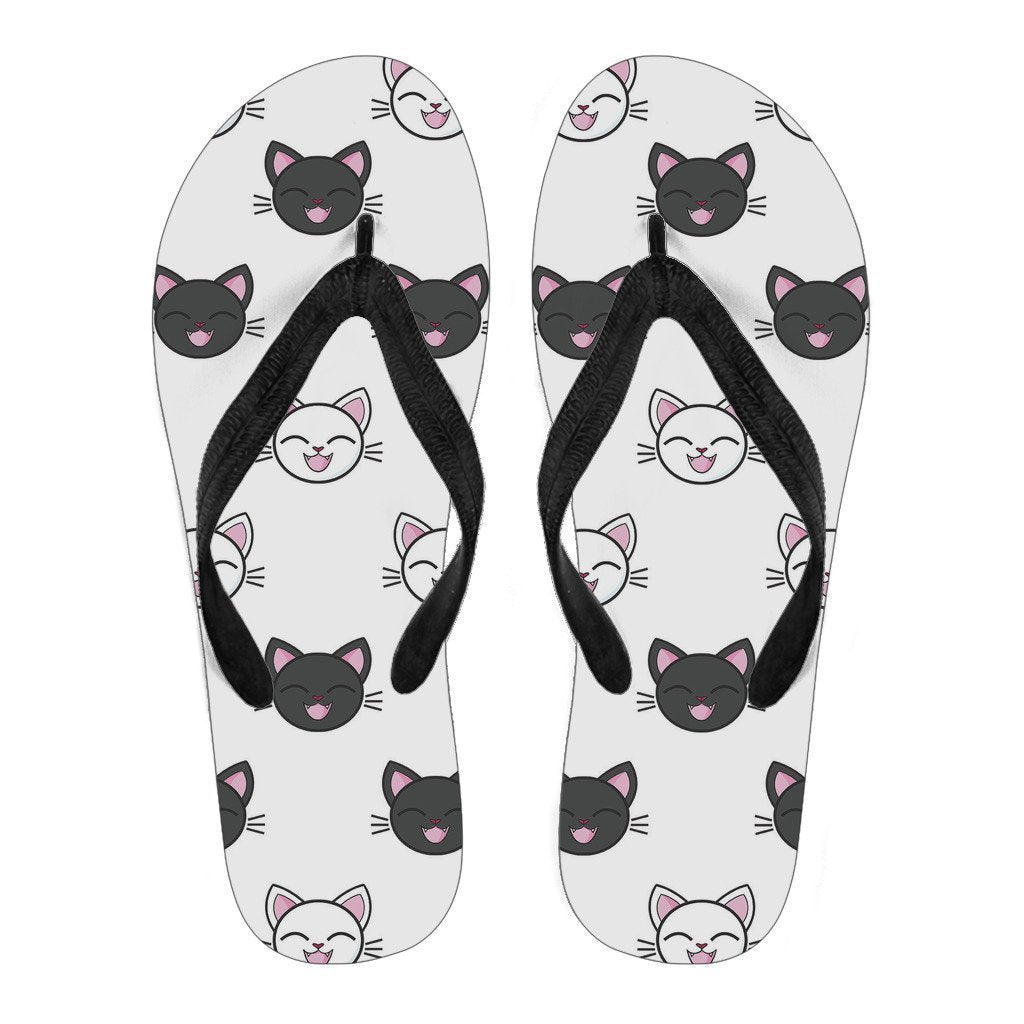 Happy Kitties Black Strap - WearItArt - Flip Flops