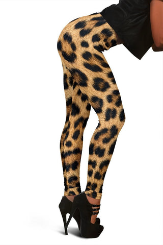 Image of Leopard Fur Print Leggings - WearItArt - leggings