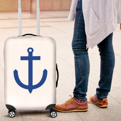 Luggage Cover - Anchor's Away - WearItArt - Luggage Covers