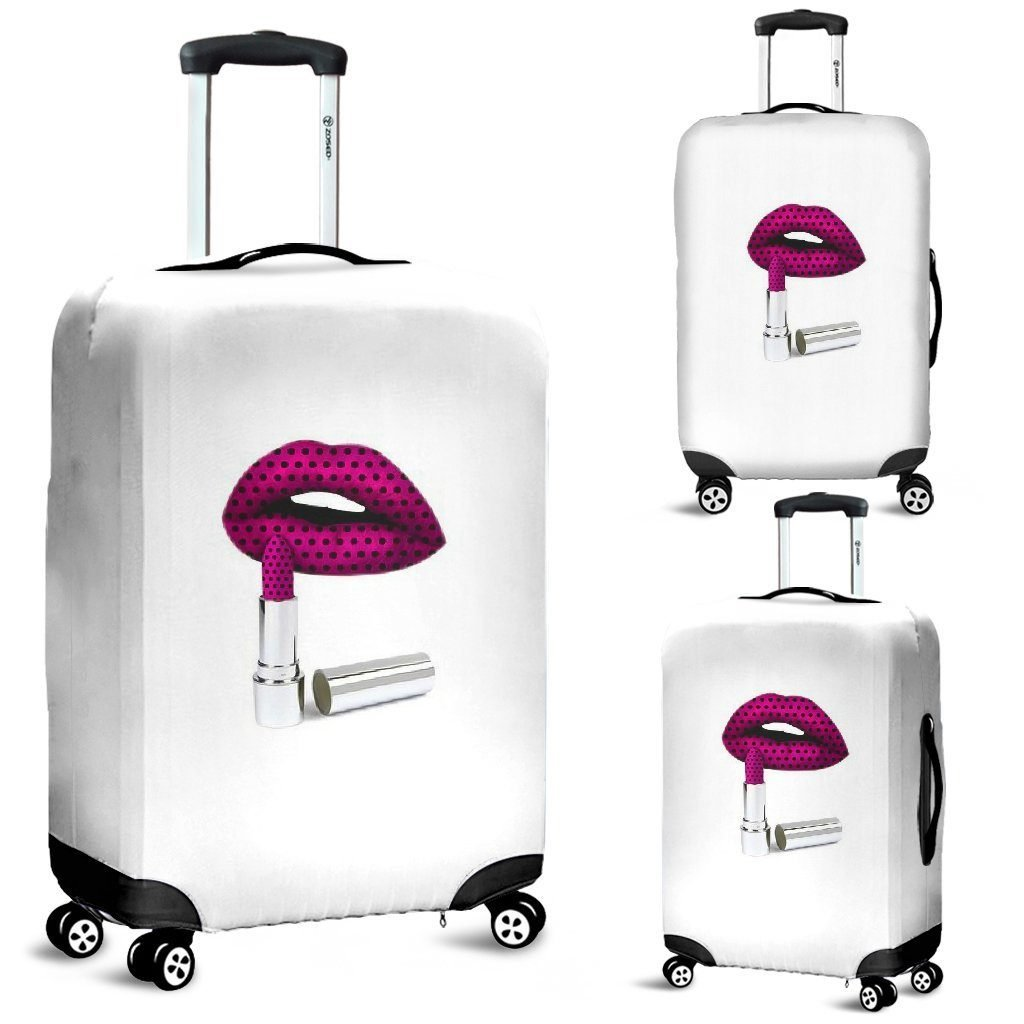 Luggage Cover - Lipstick - WearItArt - Luggage Covers