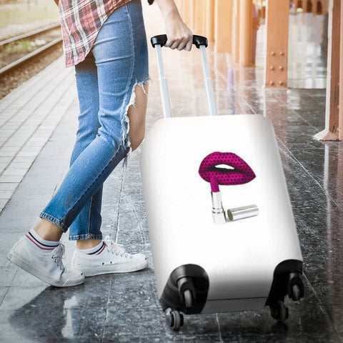 Image of Luggage Cover - Lipstick - WearItArt - Luggage Covers