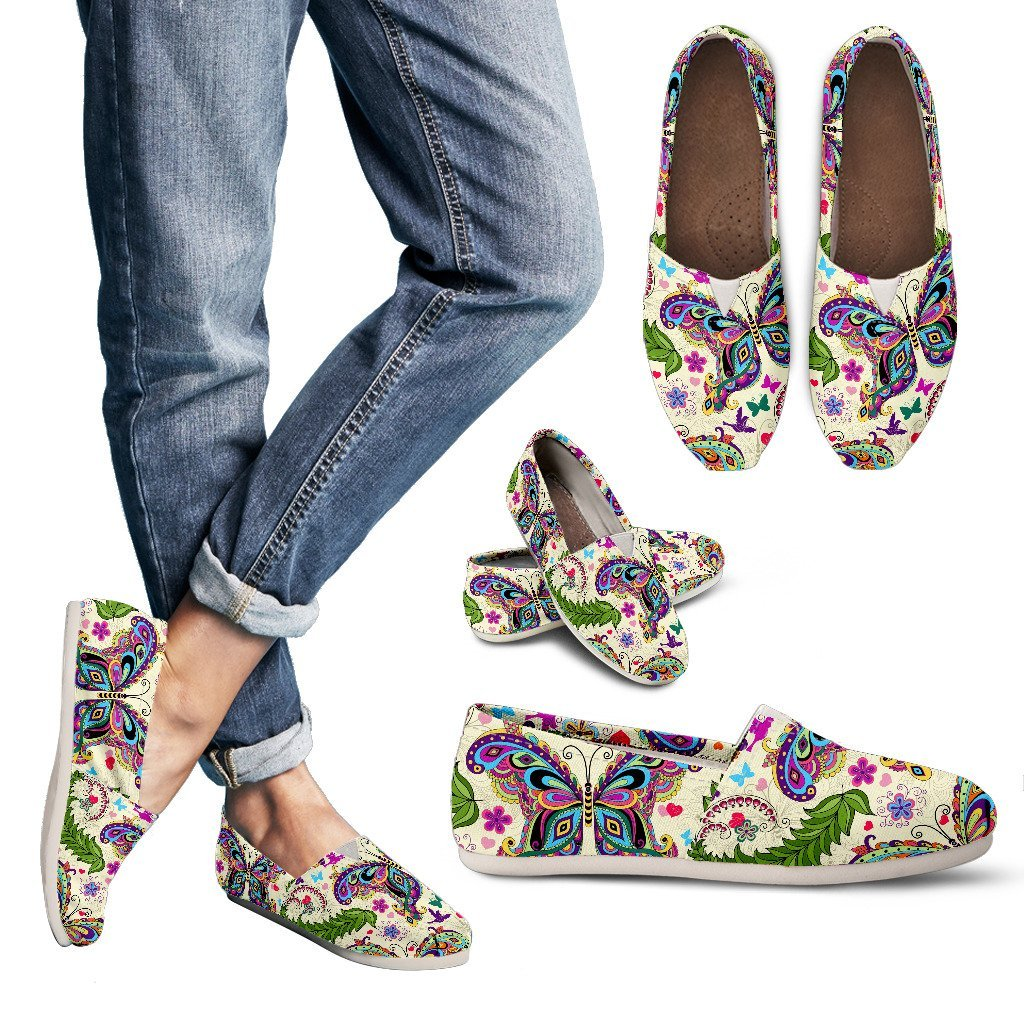 Multi-color Flower Butterfly - Women's Casual Shoes - WearItArt - Casual Shoes