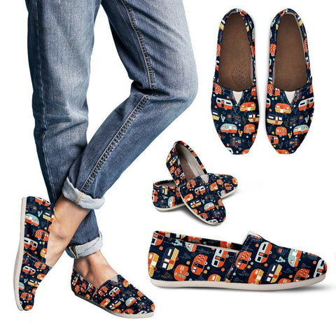 Orange and Black Campers - Women's Casual Shoes - WearItArt - Casual Shoes