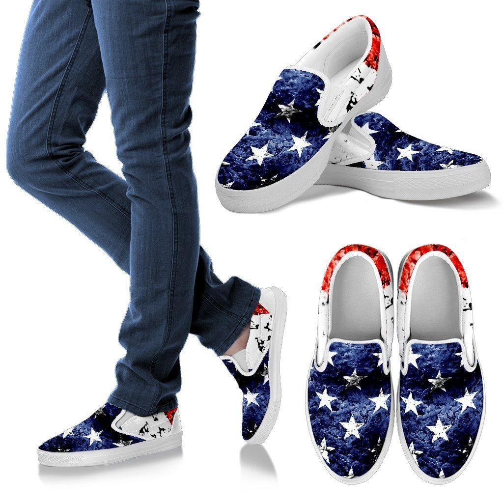Patriotic Women's Slip Ons - WearItArt - shoes