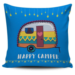 Pillow Cases - Happy Camper Pillow Cover - WearItArt - Pillow Covers