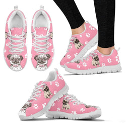 Pug Dog Women's Sneakers - WearItArt - shoes