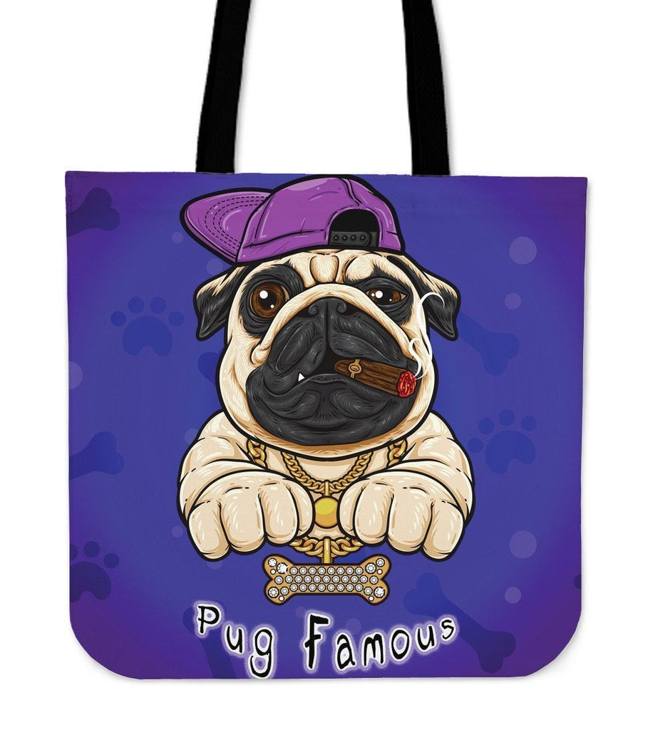 Pug Famous Tote Bag For Lovers of Dogs & Pugs - WearItArt - Handbag