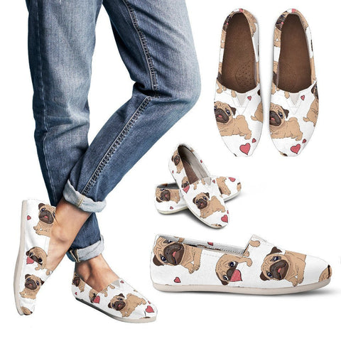 Pug Love Women's Casual Shoes - WearItArt - Casual Shoes