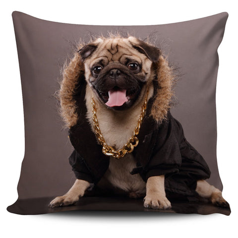 Pug Rapper Pillow Cover - WearItArt - Pillow Covers