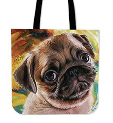 Pug Tote Bag - WearItArt - Handbag