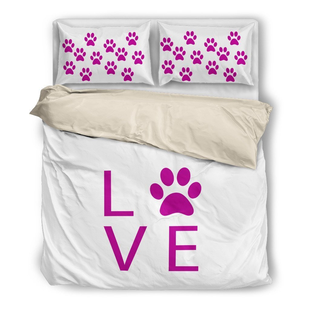 Purple Pawprints Bedding Duvet - WearItArt - Bedding Set