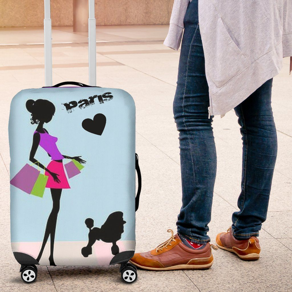 Shopping In Paris Luggage Covers - WearItArt - Luggage Covers