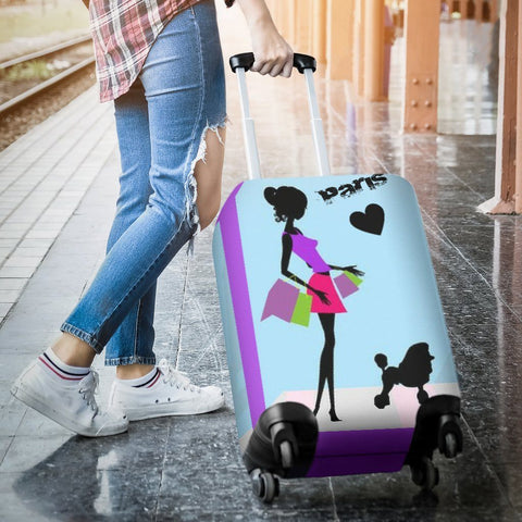 Image of Shopping In Paris Luggage Covers - WearItArt - Luggage Covers