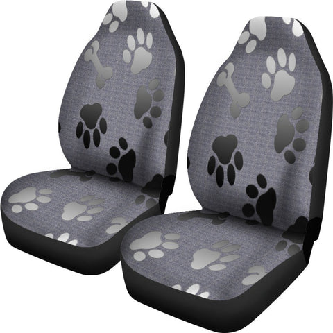 Silver bones & paws Car Seat Cover - WearItArt - Seat Cover