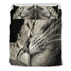 Sleepy Cat Bedding - WearItArt - Bedding Set