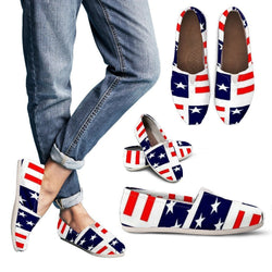 Stars & Stripes Women's Casual Shoes - WearItArt - Casual Shoes