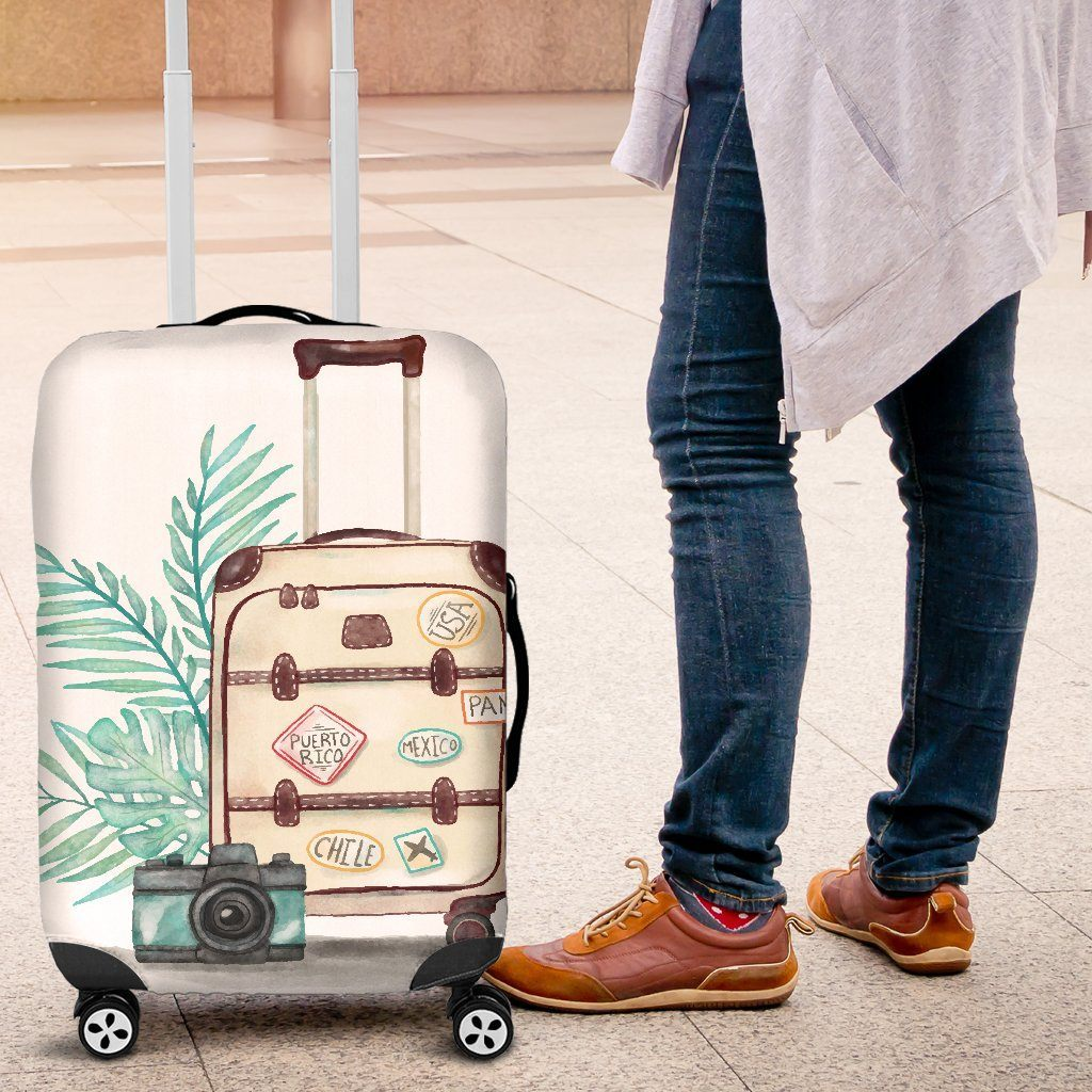 Suitcase On Suitcase Luggage Cover - WearItArt - Luggage Covers