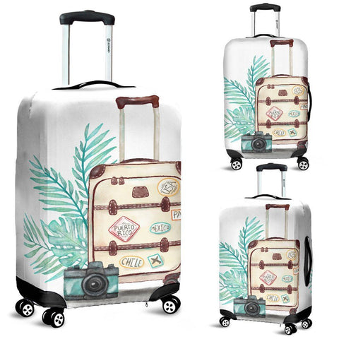Image of Suitcase On Suitcase Luggage Cover - WearItArt - Luggage Covers