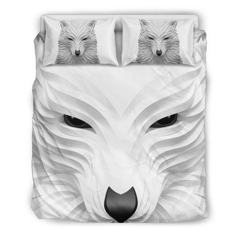 Image of White Wolf Bedding set - WearItArt - Bedding Set