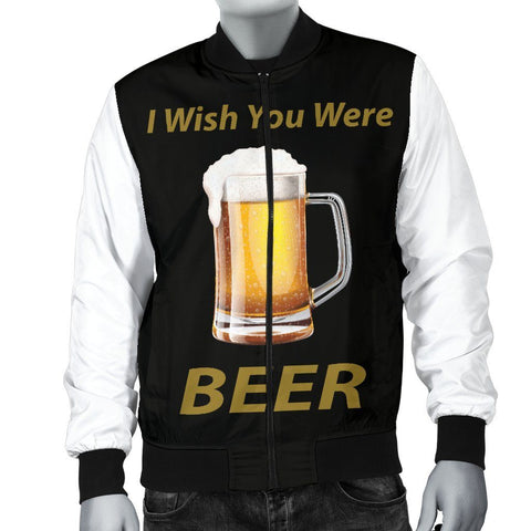 Wish You Were Beer Men's Bomber Jacket - WearItArt - Jacket